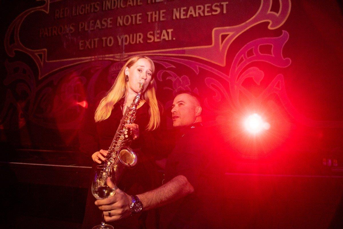 Live Saxophone Playing At Wedding Reception