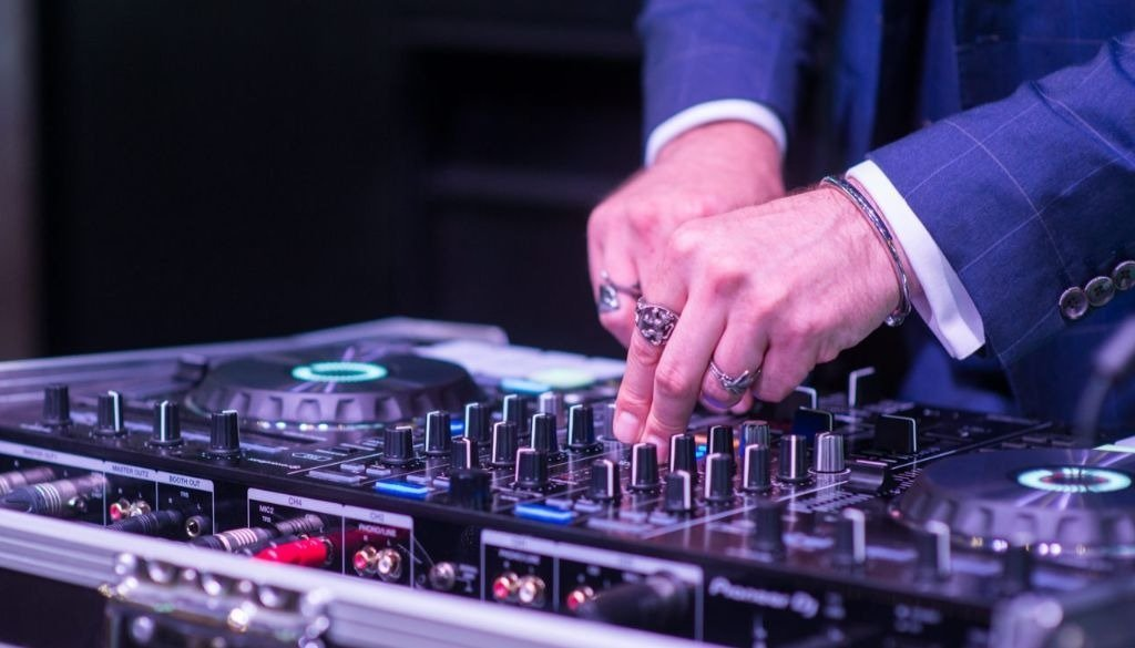 Wedding DJ Close Up Whilst Using Turntables