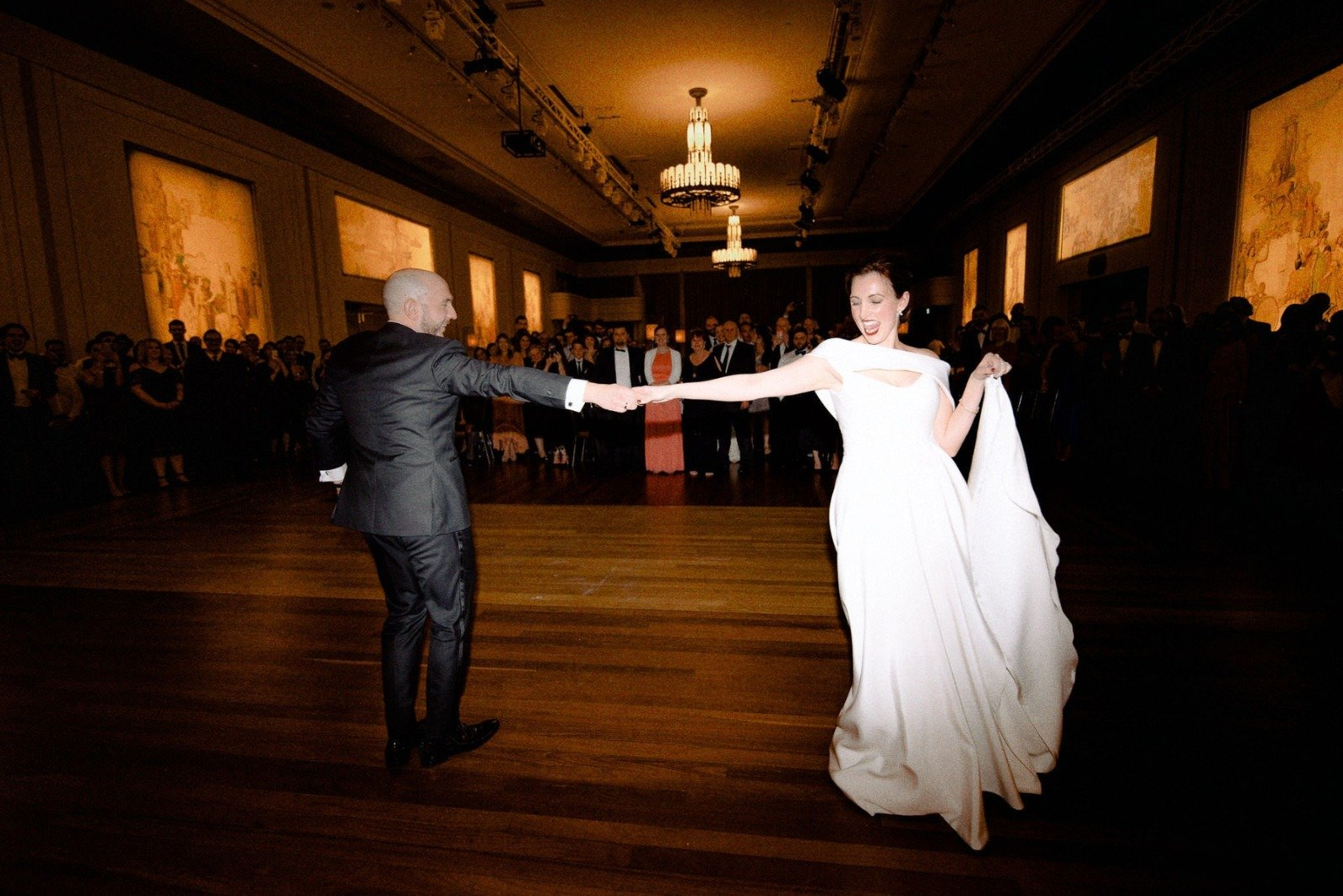 Bride And Grooms First Dance At Melbourne Wedding