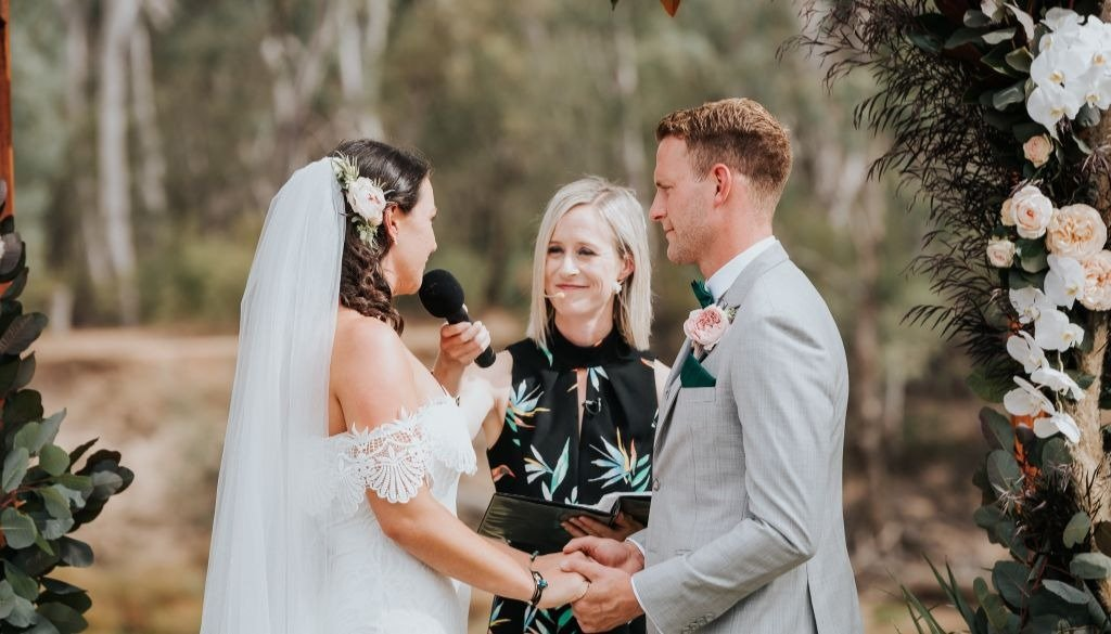 Melbourne Wedding Celebrant Weds Couple Whilst DJ Prepares
