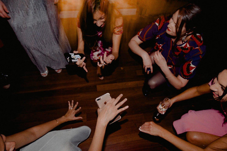 Crowd Gathers On Dance Floor For Melbourne Wedding DJ