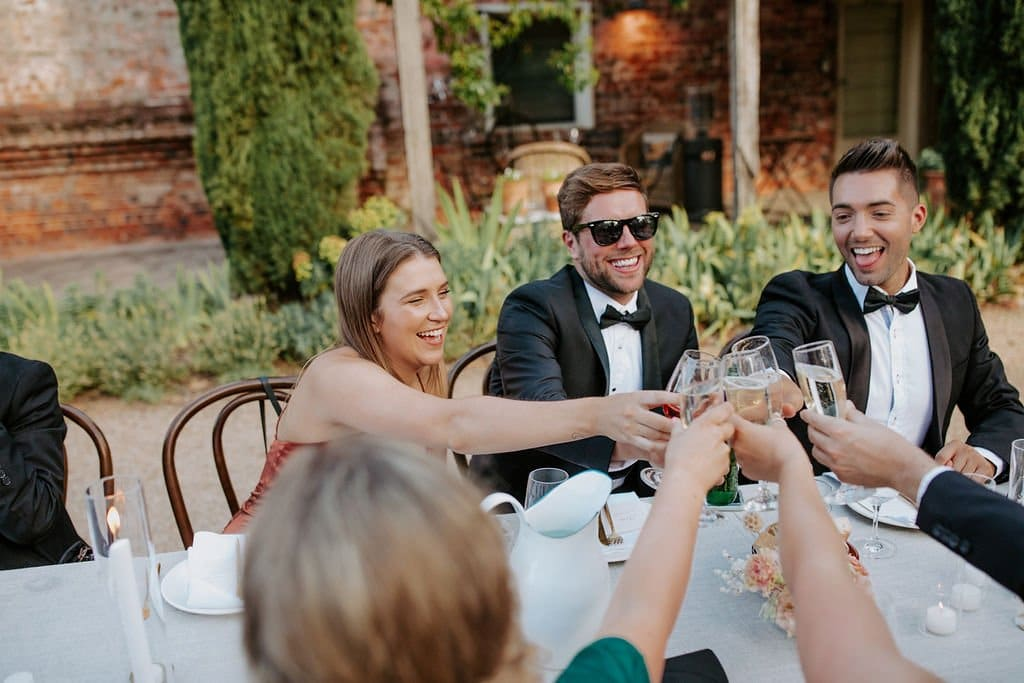 Wedding Guests At Outdoor Wedding Reception
