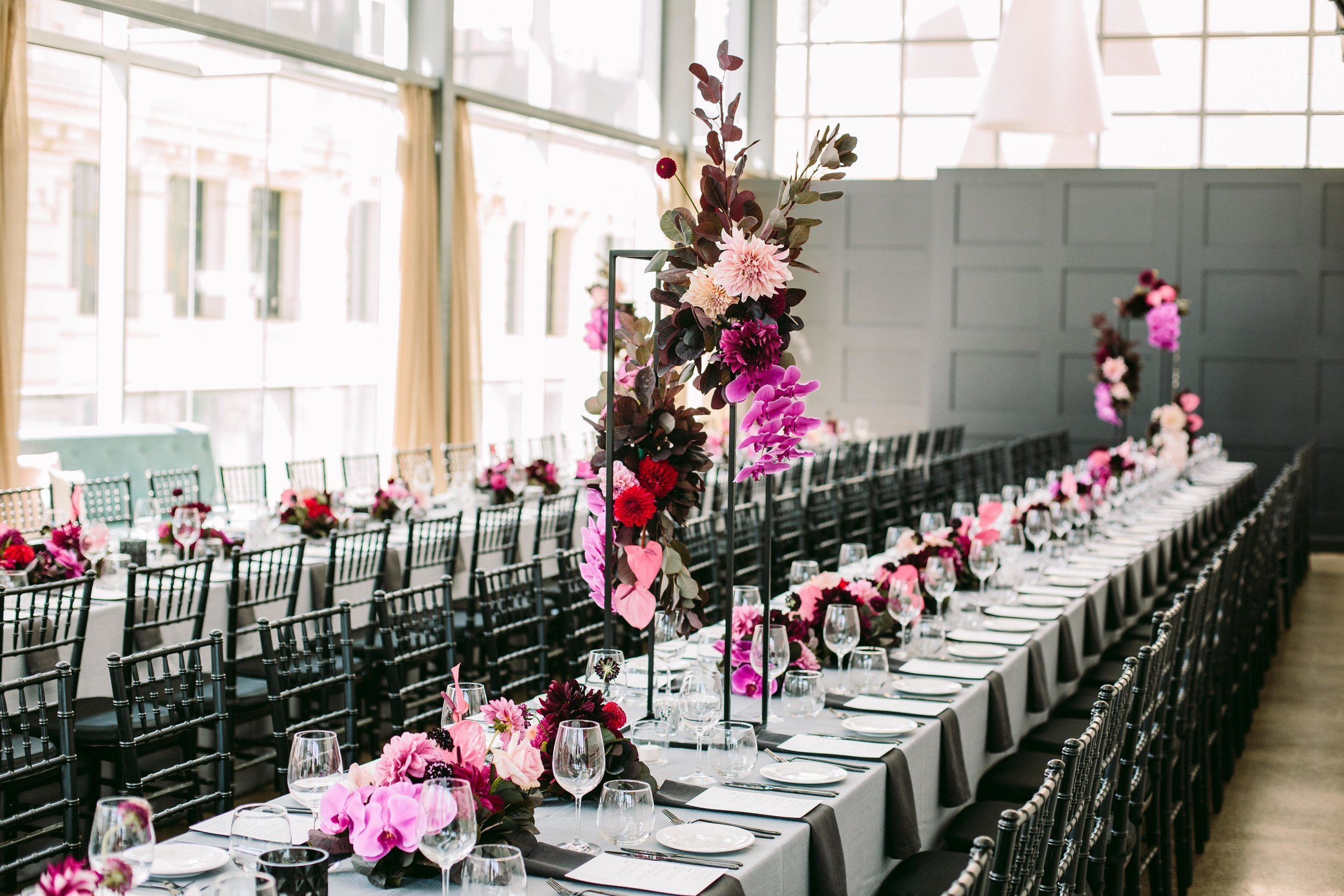 Alto Event Space Melboure Wedding Venue Table Setting With Flowers