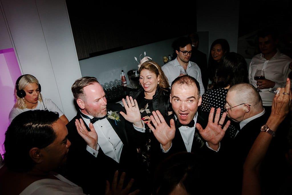 Same Sex Wedding Guests Dancing in Melbourne