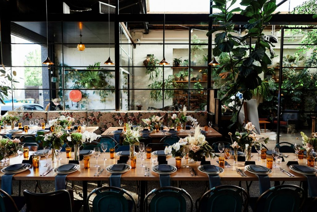 Melbourne Wedding Venue Table Setting At Rupert On Rupert Collingwood
