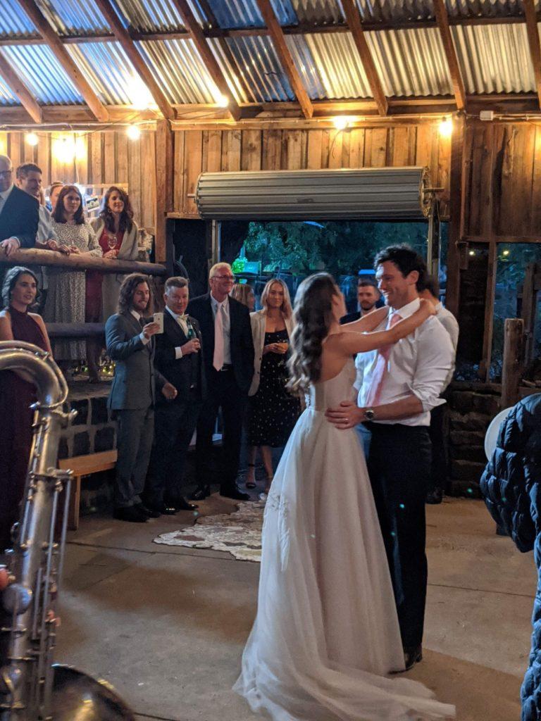 Wedding Couple Dancing At Collingwood Childrens Farm