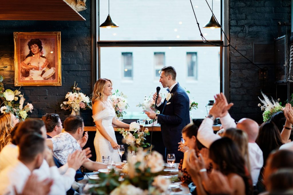 Wedding Couple Speeches At Rupert on Rupert Collingwoodd