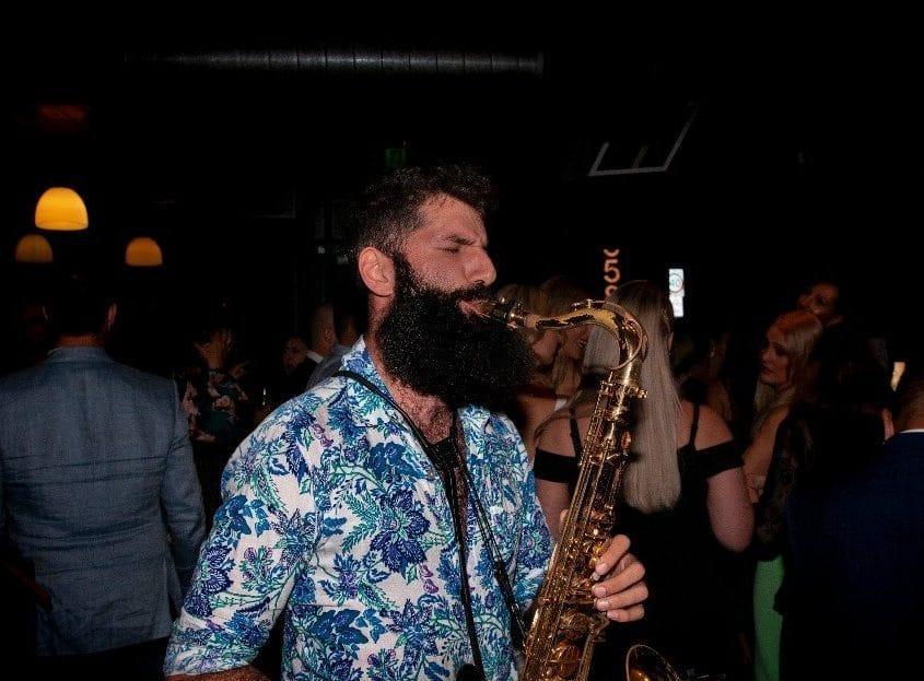 Saxophone At Top Paddock Wedding