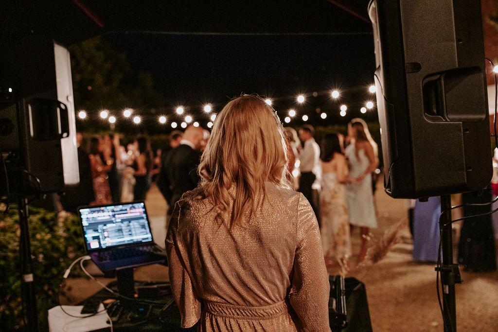 Female DJ At Victorian Wedding