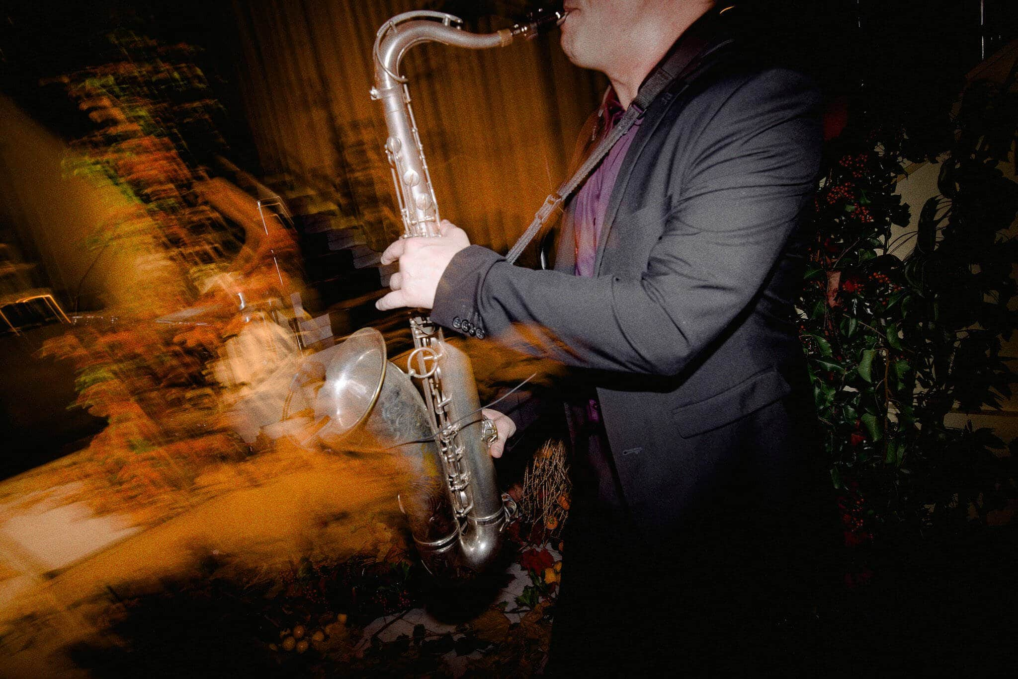 Saxophone Entertains Guests At Melbourne CBD Wedding