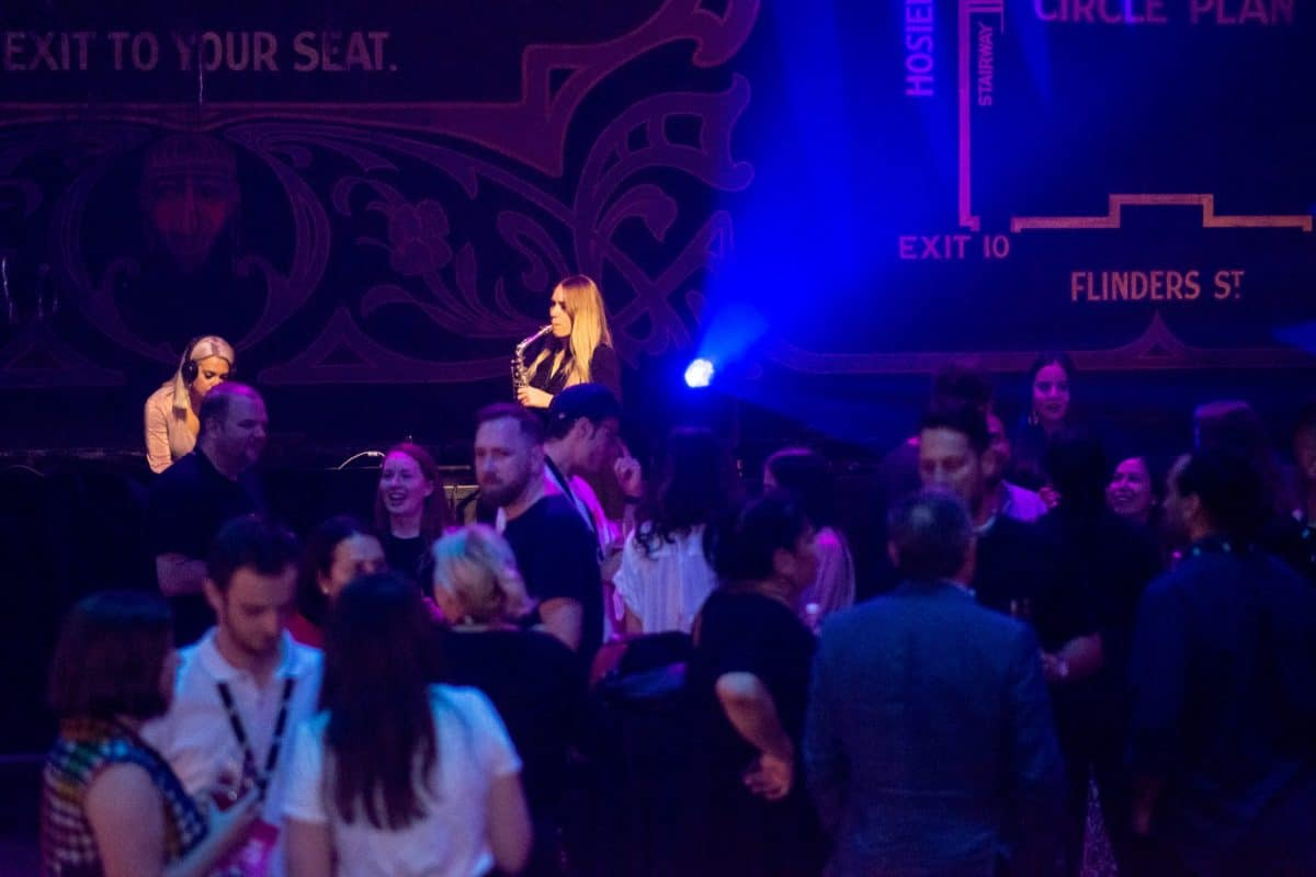 Melbourne DJ And Sax Player Perform At The Forum Corporate Event