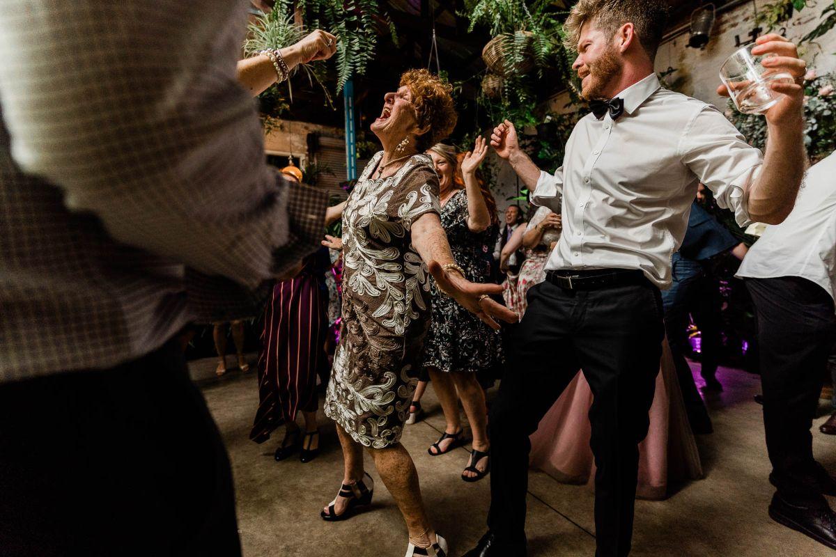 Glasshaus Inside Melbourne Wedding Dancing