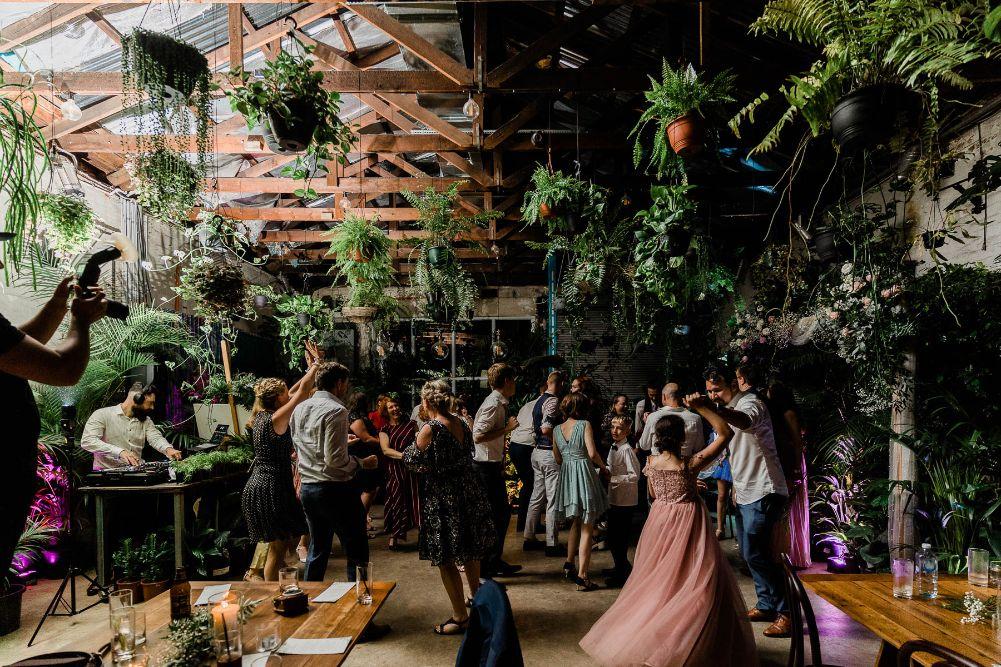 Glasshaus Inside Wedding Dance Floor