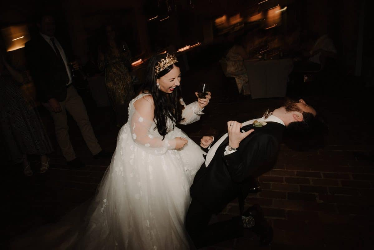 Bride And Groom Dancing At Wedding Photographed By She Takes Pictures He Makes Films